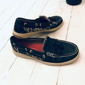 Sperry Top sider leopard size 8.5